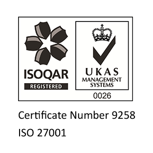 NB ISOQAR Badge for ISO 27001 Accreditation